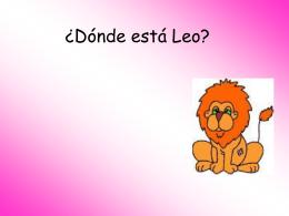 Estar, donde esta Leo