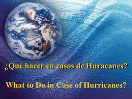 Qué hacer en caso de desastres naturales