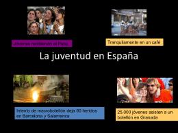 La juventud en el mundo hispanohablante