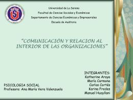 comunicación y relaciones dentro de una organización