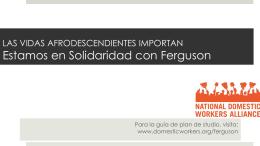 Estamos en Solidaridad con Ferguson PowerPoint