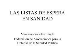 LAS LISTAS DE ESPERA EN SANIDAD