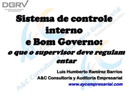 Sistema de Control Interno y Buen Gobierno: