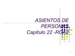 Nombres Personales: ASIENTOS DE PERSONAS Capítulo