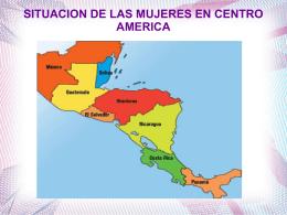 sobre la situación de las mujeres en Centroamérica