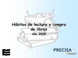Hábitos de lectura y compra de libros (Año 2004)