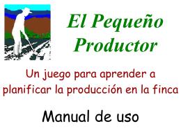 Juego didáctico El Pequeño Productor