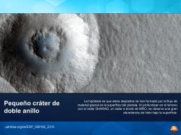 Pequeño cráter de doble anillo