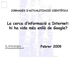 LA CERCA D`INFORMACIÓ A INTERNET