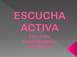 ESCUCHA ACTIVA - WordPress.com