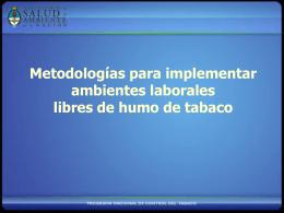 Metodologías para implementar Empresas Libres de Humo