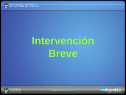Intervención Breve PPT