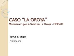 Caso Oroya Mosao