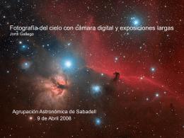Exposiciones en varias noches ……. con DSLR Jordi