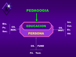 PERSONA Y EDUCACION