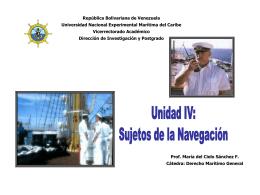 Unidad IV Sujetos de la Navegación