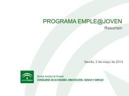 Programa Emple@ Joven. - Federación Andaluza de Municipios y