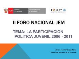La Participación Política Juvenil