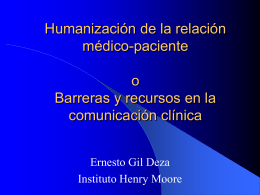 Doctor-Patient Communication - Instituto Oncológico Henry Moore