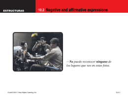 10.2 Negative and affirmative expressions