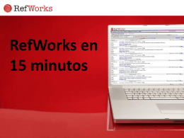 RefWorks in 15 Minutes