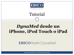 DynaMed desde un iPhone, iPod touch o iPad