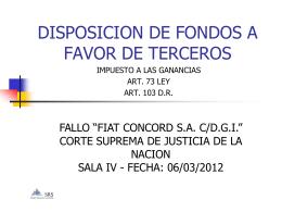 DISPOSICION DE FONDOS A FAVOR DE TERCEROS