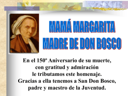 Mama Margarita, Madre de Don Bosco