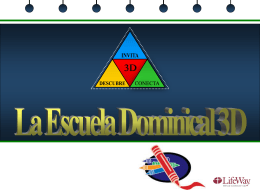 La Escuela Dominical 3D-Escolares