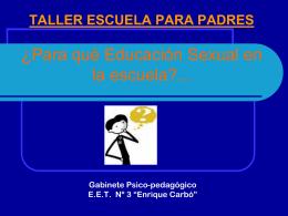 ¿Para qué Educación Sexual en la escuela?