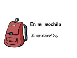 En mi mochila - Frenchteacher.net