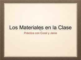 Los Materiales en la Clase - Room 2310