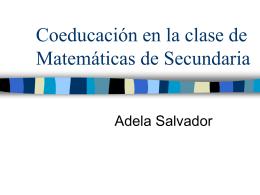 Coeducación en la clase de Matemáticas de Secundaria