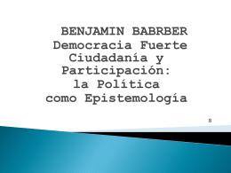 barber democracia fuerte