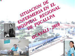 Diapositiva 1 - Hospital Regional de Pucallpa