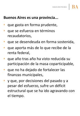 Buenos Aires es una provincia... - Ministerio de Economía de la