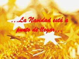 …La Navidad está a punto de llegar…