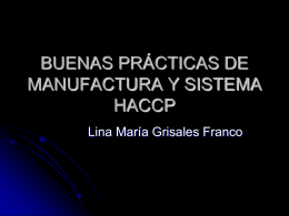 buenas prácticas de manufactura y sistema haccp