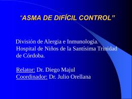 presentación ASMA DE DIFÍCIL CONTROL