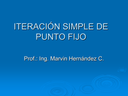 ITERACIÓN SIMPLE DE PUNTO FIJO