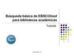 CINAHL Basic Searching - Sistema de Bibliotecas USMP