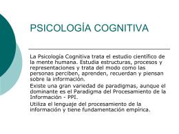 Psicologia Cognitiva y Lectura