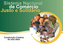 Que es el Sistema Nacional de Comércio Justo e Solidario