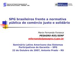SISTEMA BRASILEIRO DE COMÉRCIO JUSTO E SOLIDÁRIO