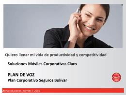 PRESENTACION CLARO 2015 - Seguros Bolivar Institucional