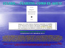 CLARO,…CLARITO COMO EL AGUA