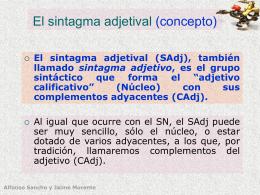 El sintagma adjetival (concepto)