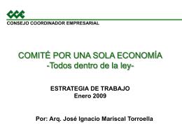 consejo coordinador empresarial comité por una sola economía