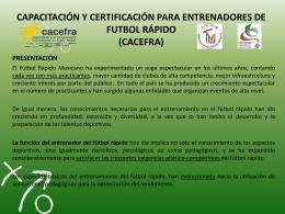 capacitación y certificación para entrenadores de futbol rápido