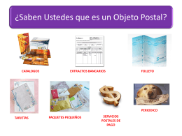 ¿Saben Ustedes que es un Objeto Postal?